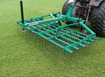 Spring tine harrow / with seeder