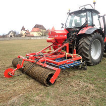 Spring tine harrow / with roller / with seeder