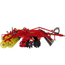 Mounted field cultivator / semi-mounted / with disk harrow / folding