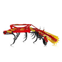 Trailed field cultivator / mounted / with roller / fixed
