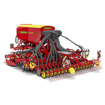Pneumatic seed drill / trailed / tine / depth control