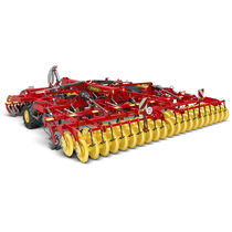 Trailed field cultivator / with disk harrow / folding