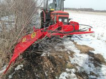 Arboriculture pruning machine / tractor-mounted / sickle bar