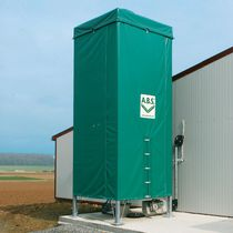 Grain silo / animal feed / fabric / rectangular