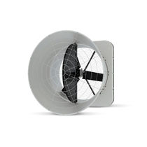 Barn fan / extraction / wall-mounted / axial