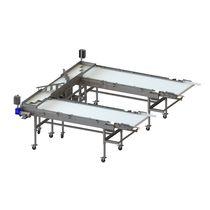 Fruit conveyor / belt / mobile / low-profile