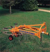 Tree branch rake / rotary / side delivery