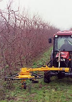 Tree branch rake / rotary / side delivery / vineyard