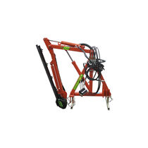 Tractor-mounted boom mower / sickle bar