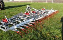 Chain harrow / folding / for slurry