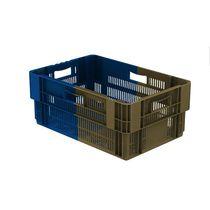 Fruit crate / vegetable / plastic / bi-color