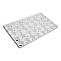 Plastic plug tray / reusable / round