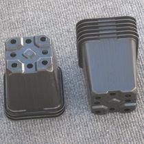 Plastic pot / square / black