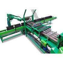 Automatic pot filling machine / for biodegradable pots