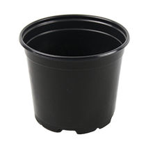 Plastic pot / round / black / reusable
