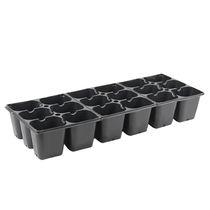 Polystyrene plug tray / reusable / rectangular / square