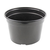 Plastic pot / black / reusable