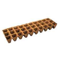 Wood fiber plug tray / disposable / biodegradable / square