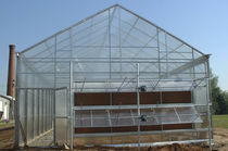 Even-span greenhouse / ornamentals production / gardening / with gutter