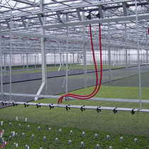 Greenhouse irrigation booms / hose-fed / suspended