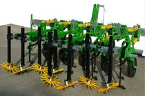 Vegetable row crop cultivator / mounted / folding / fixed