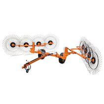 Wheel rake / center delivery / side delivery