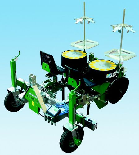 manual transplanter / vegetables / block / 2-row