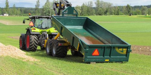 hook lift trailer / single-axle / agricultural