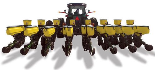 folding precision seed drill / twin-row / with disc harrow