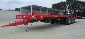 flatbed trailer / 3-axle / agricultural