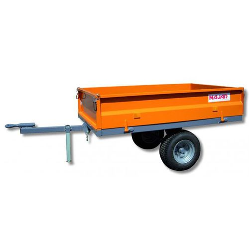 drop-side trailer / single-axle / agricultural / tipping