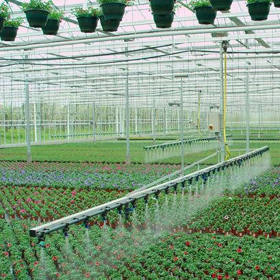 greenhouse irrigation boom / hose-fed / suspended