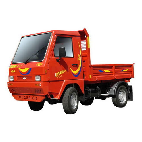 2-person transport vehicle / diesel / with dump bed / with cab