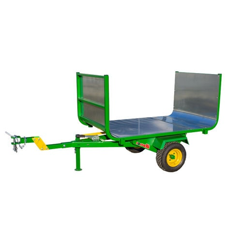 dump trailer / single-axle / forestry / tipping