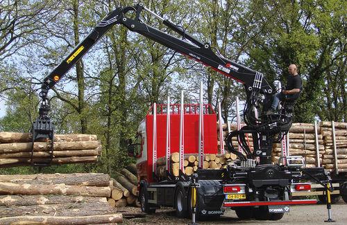 truck-mounted forestry crane - HIAB AB
