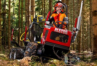 8x8 forestry forwarder