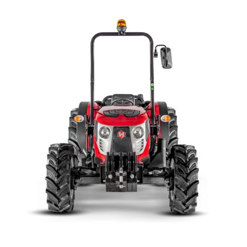 synchromesh mechanical shift tractor / with ROPS / 3-point hitch / front PTO