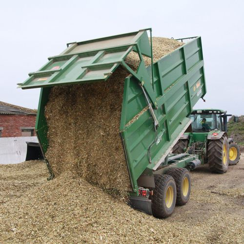 dump trailer / 2-axle / agricultural / tipping