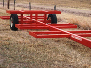 gooseneck trailer / 2-axle / agricultural / for bale
