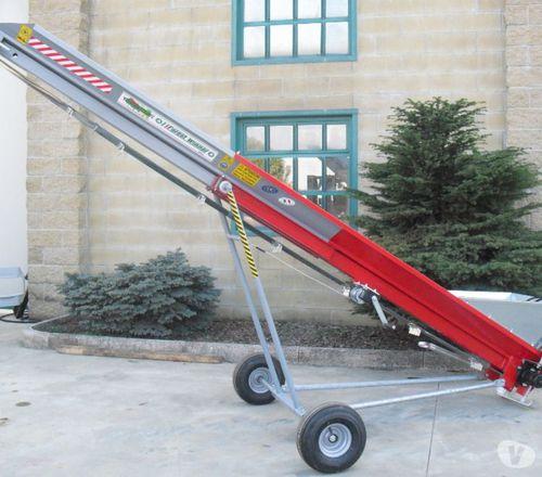 firewood conveyor / belt / mobile / inclined