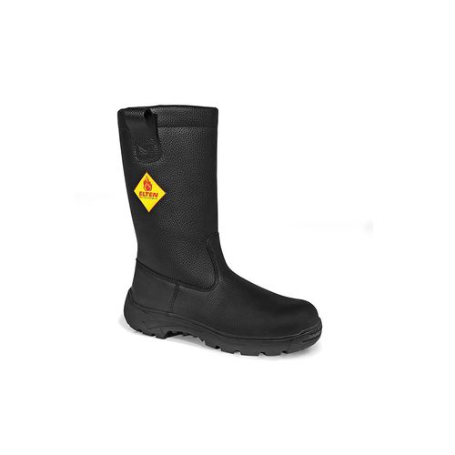waterproof work boot / leather / rubber