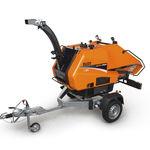 diesel engine wood chipper / trailed / hydraulic