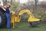 tractor-mounted stump cutter