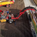 potatoes conveyor / belt / mobile / height-adjustable