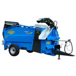 semi-mounted straw blower / for round bales / double / electric