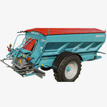 trailed fertilizer spreader / solid