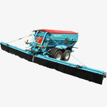 trailed fertilizer spreader / plot