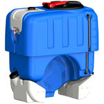 pesticide tank / tractor-mounted / polyethylene / square
