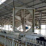 fan for livestock buildings / for air circulation / suspended