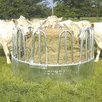 cattle hay rack / steel / multi-access / circular